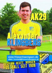 Spielerkarte A6 - Alexander KLINGBERG