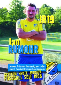 Spielerkarte A6 - Jan RUMOHR