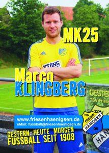 Spielerkarte A6 - Marco KLINGBERG