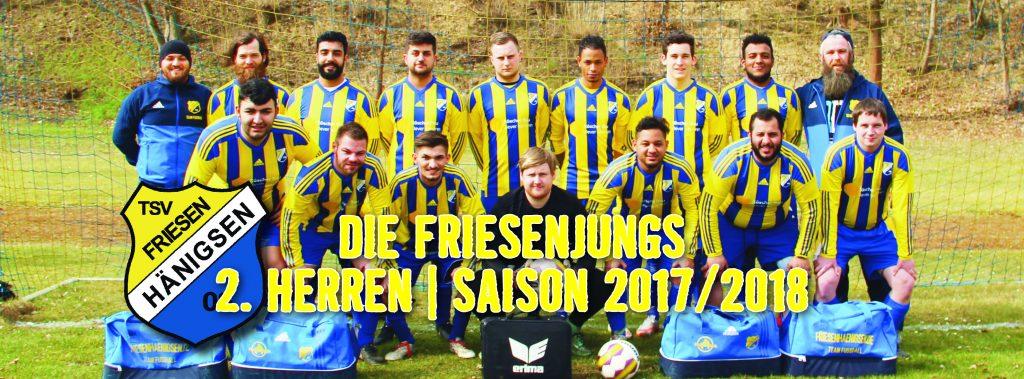 TSV FH - Internetbild Herren 2 - Mannschaft Saison 2017-2018