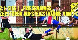 1. Herren | Friesenjungs bleiben unberechenbar und holen den Aufstiegsaspiranten auf den Boden der Tatsachen zurück! Verdienter Sieg mit 2:1 über FC Burgdorf!