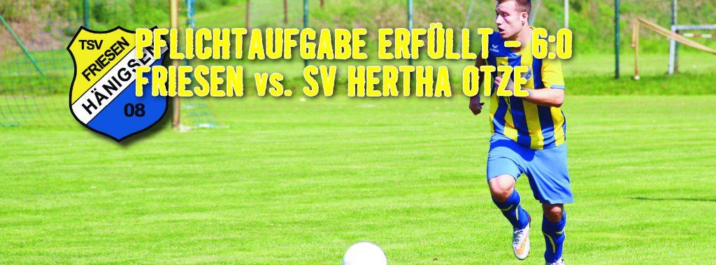 TSV FH - Internetbild Herren 1 - gegen SV Hertha Otze