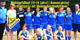 Mädchenfußball (11-14 Jahre) | Friesenmädels feiern den Saisonabschluss 2017/2018 beim Camping-Wochenende am Allerstrand in Offensen mit Zelten, Grillparty, Schwimmen und Spaßkick!